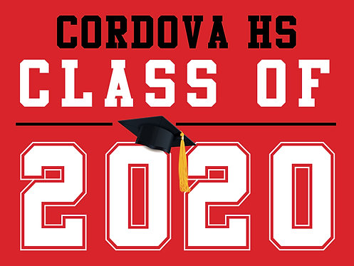 Cordova HS - Class of 2020 (Red)