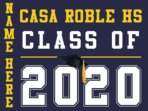 Casa Roble HS - Class of 2020 with name (Blue)