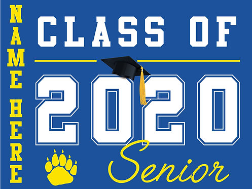 Del Campo HS - Senior 2020 with name (Blue)