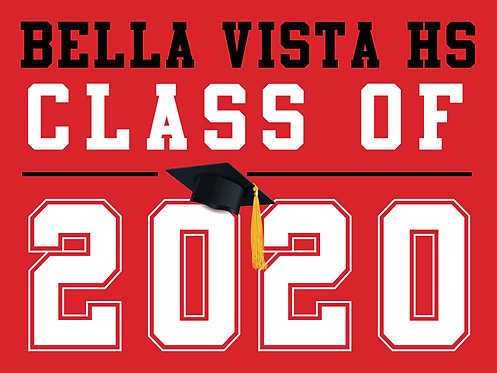 Bella Vista HS - Class of 2020 (Red)