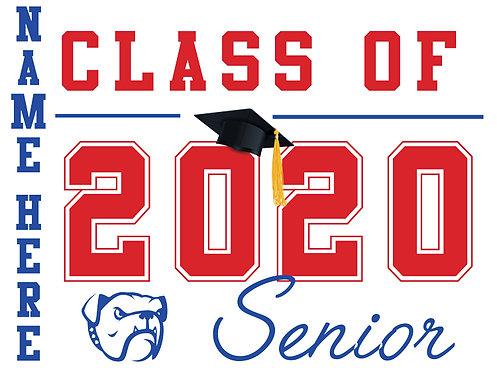 Folsom HS - Senior 2020 with name (White)