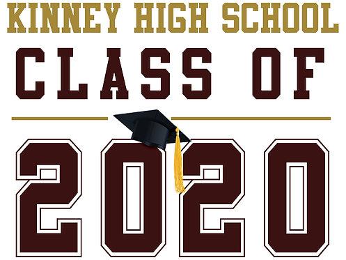 Kinney HS - Class of 2020 (White)