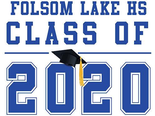Folsom Lake HS - Class of 2020 (White)