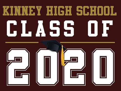 Kinney HS - Class of 2020 (Burgundy)