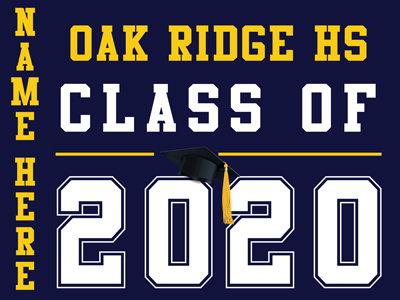 Oak Ridge HS - Class of 2020 with name (Blue)
