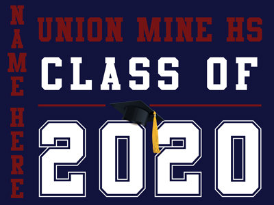 Union Mine HS - Class of 2020 with name (Blue)