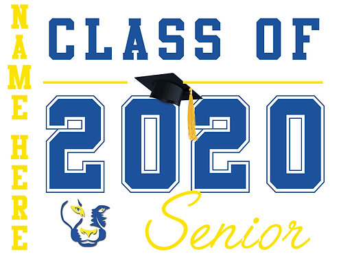 Del Campo HS - Senior 2020 with name (White)