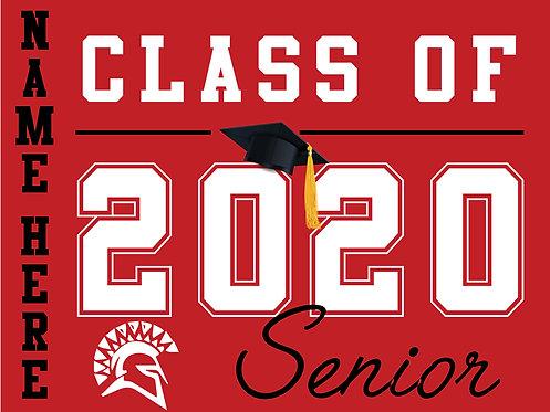 San Juan HS - Senior 2020 with name (Red)