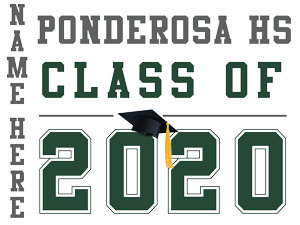 Ponderosa HS - Class of 2020 with name (White)