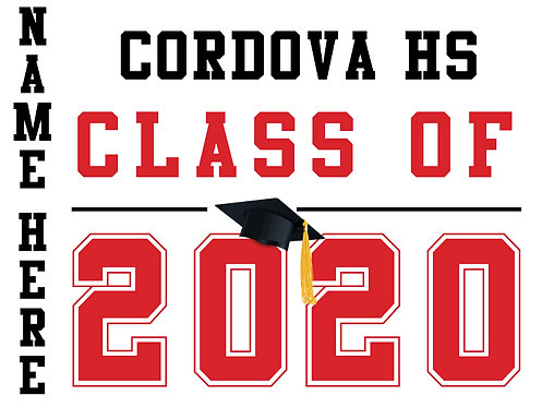 Cordova HS - Class of 2020 with name (White)