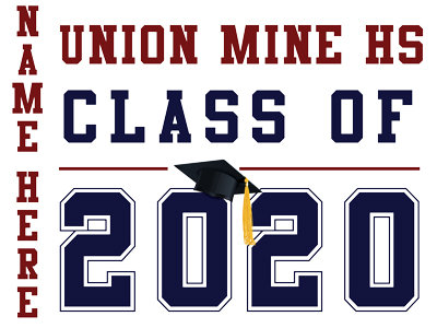 Union Mine HS - Class of 2020 with name (White)