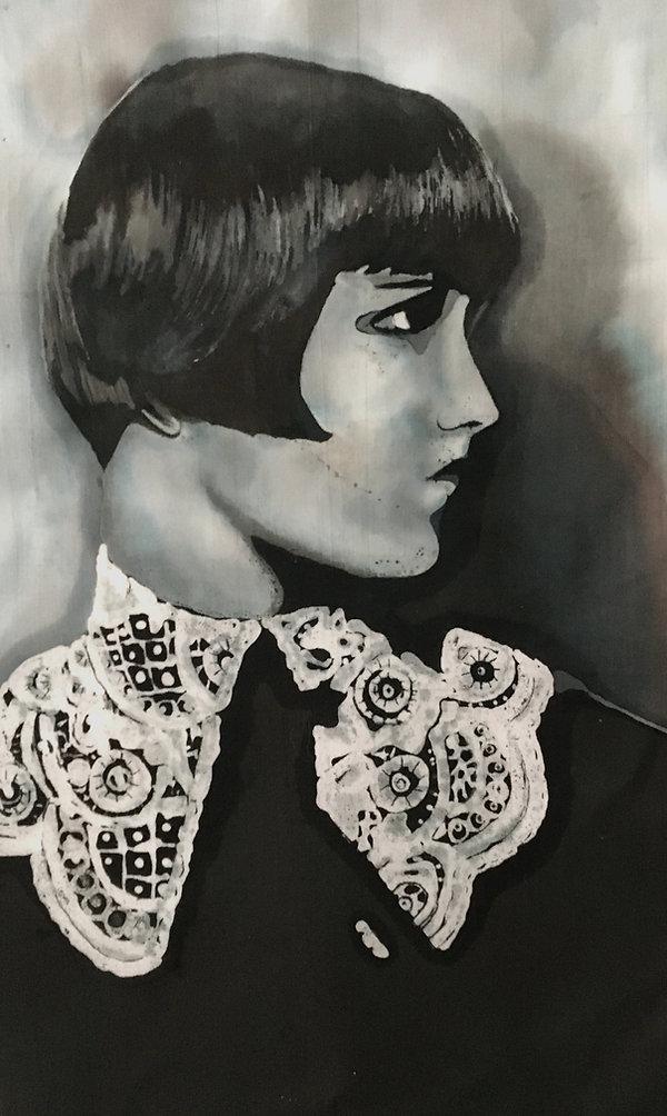 portrait with lace batik