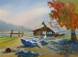Barn on the Lake