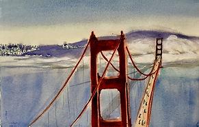 Fog under Golden Gate