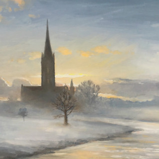 Salisbury Cathedral - Winter Dawn