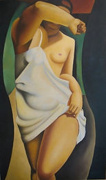 La modella - olio su tela - 60x100 (2005