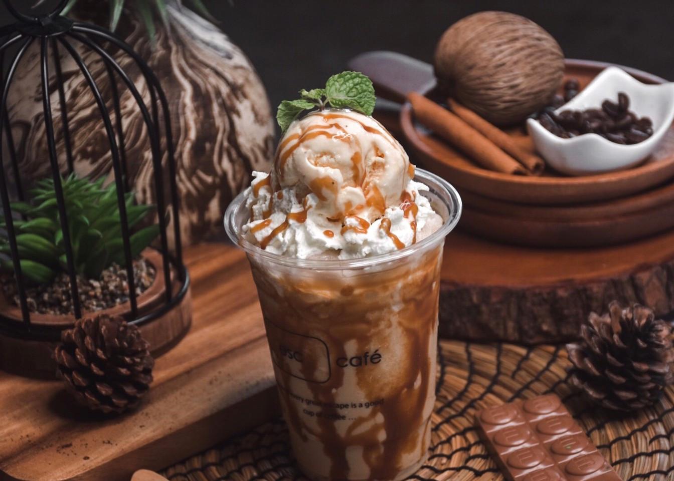Coffee Milkshake with gelato