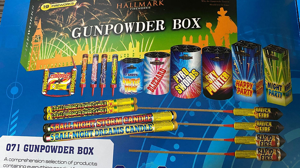 Hallmark Fireworks Gunpowder Box