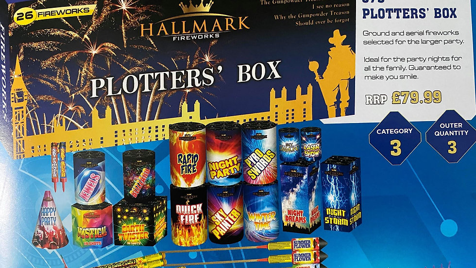 Hallmark Fireworks Plotters Box
