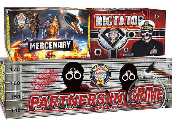 Brothers Pyrotechnics Partners In Crime Barrage Pack