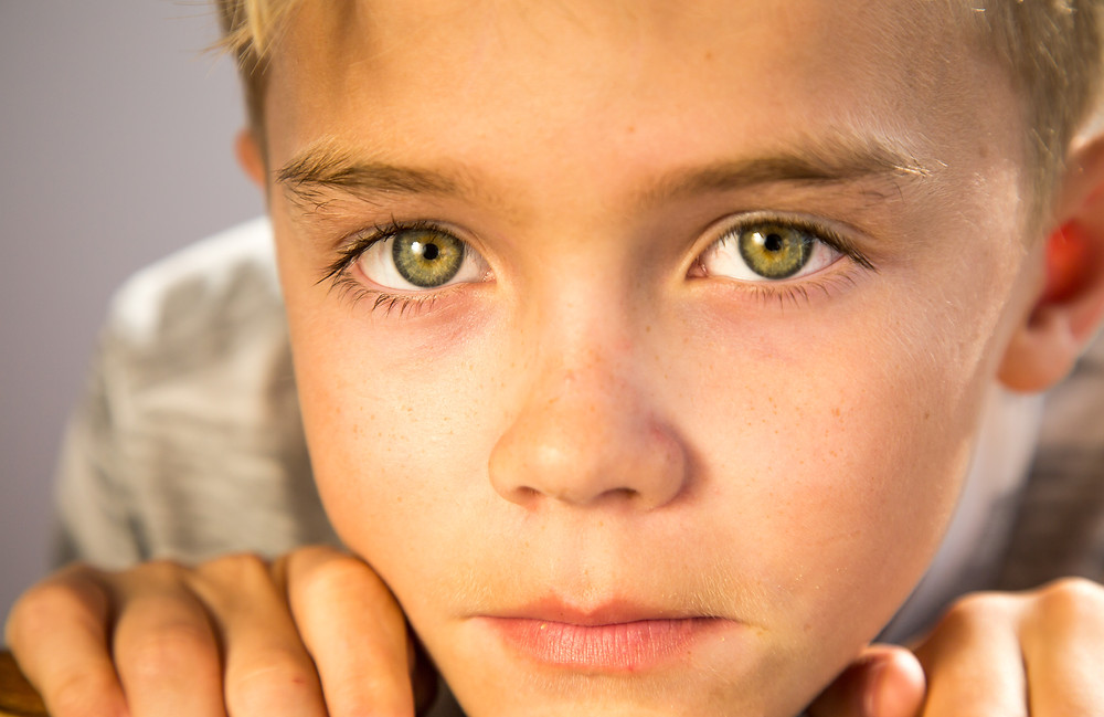 Those lovely, green eyes.