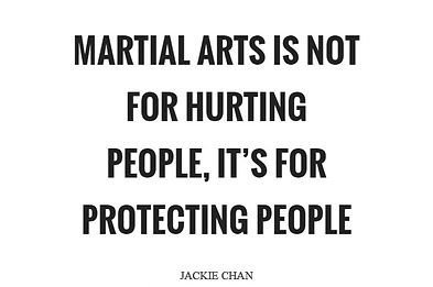 Martial Arts Is Not For Hurting