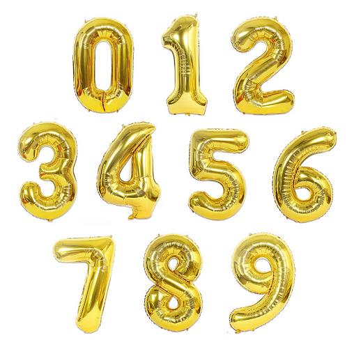 Mylar lettres ou chiffres gonflés à l'hélium