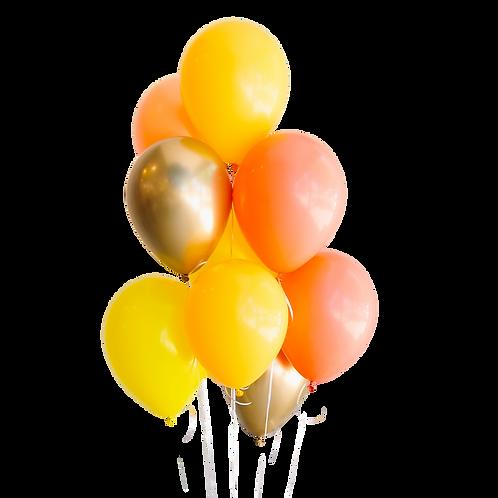 Moyen bouquet de ballons - sunshine