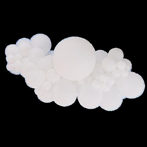 Kit guirlande de ballons - blanc