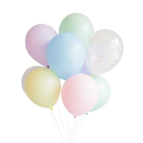Gros bouquet de ballons - pastel