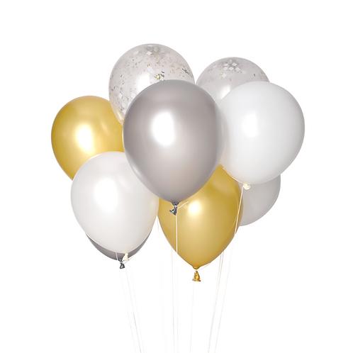 Petit bouquet de ballons - golden