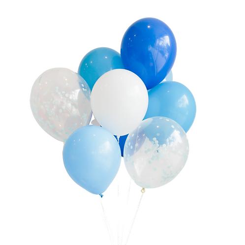 Gros bouquet de ballons - bleu