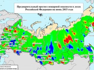 В июне на значительной части территории страны возрастет риск лесных пожаров