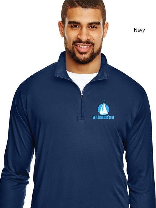 Men's Navy Quarter Zip Riggers Shirt