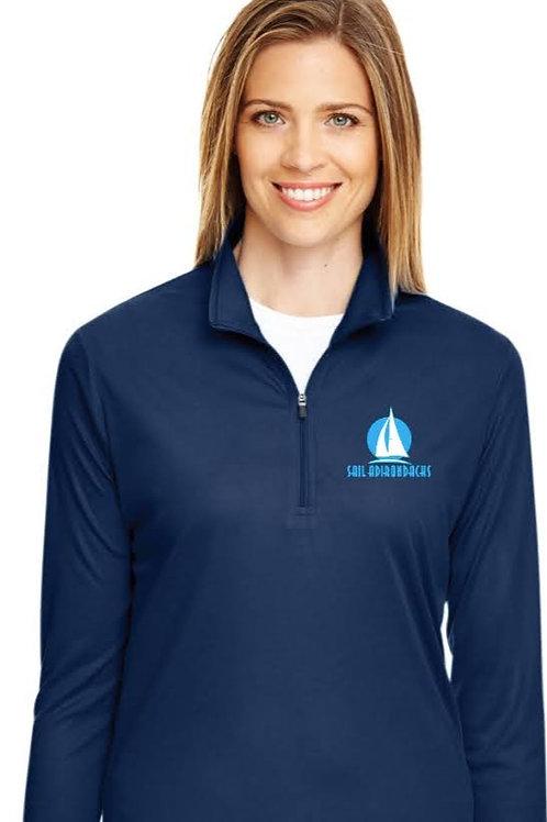 Women's Navy Quarter Zip Rigger Shirt
