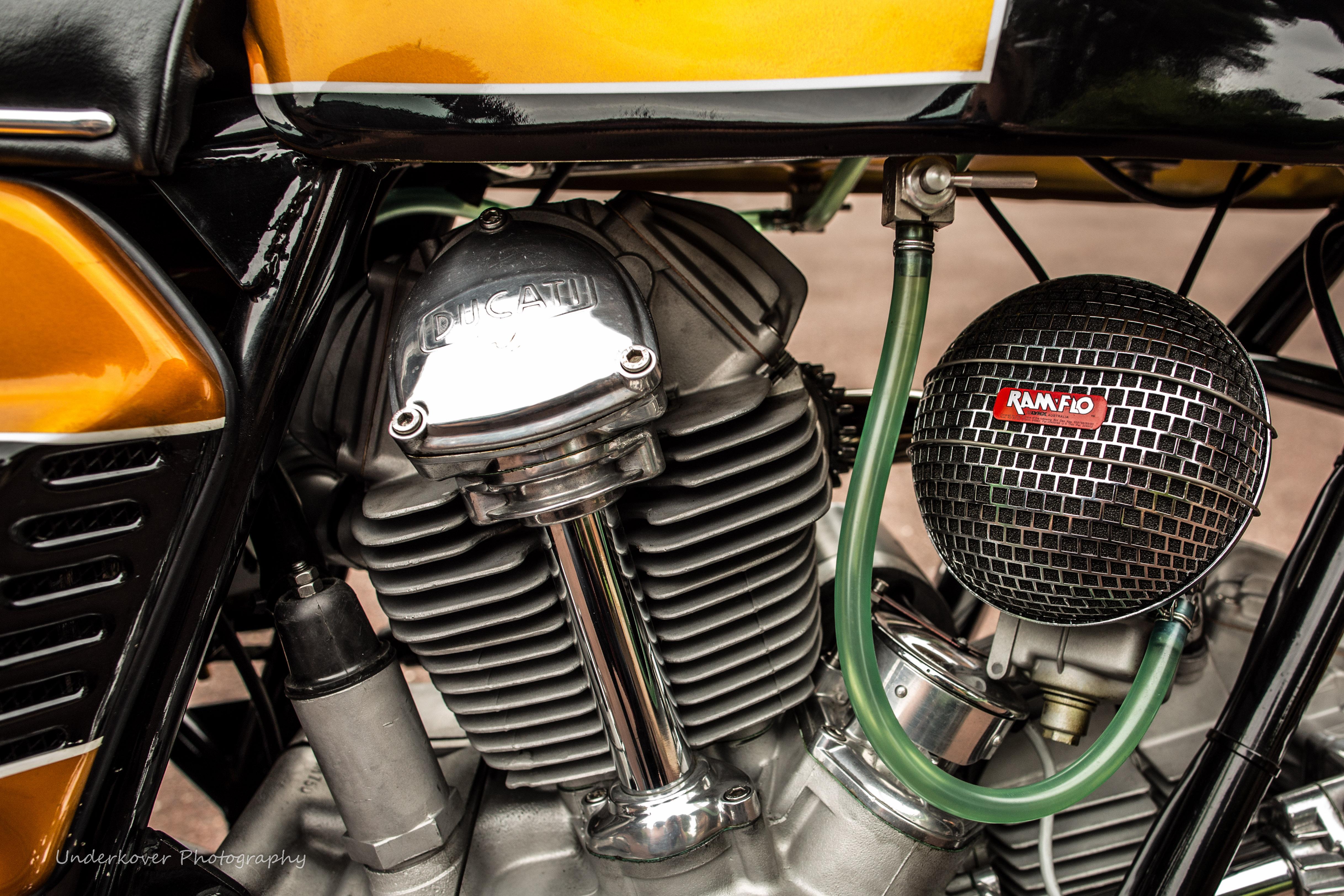 1974 Ducati 750GT engine
