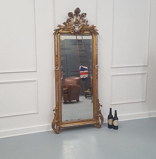 Antique Decorative French Mirror C1880