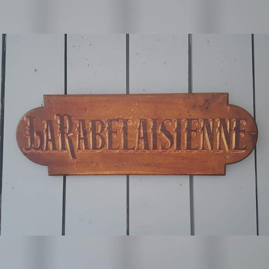 Antique French Painted Sign C1900