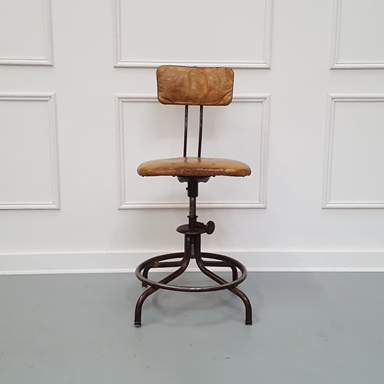 French Vintage Machinist Stool
