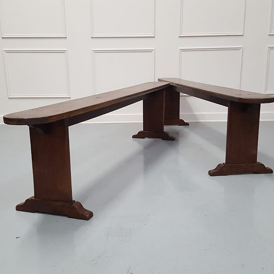 Pair of French Oak Benches c1860