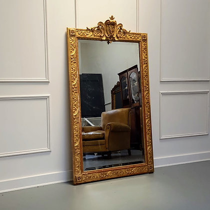 Antique High Quality Gilded French Mirror C1880
