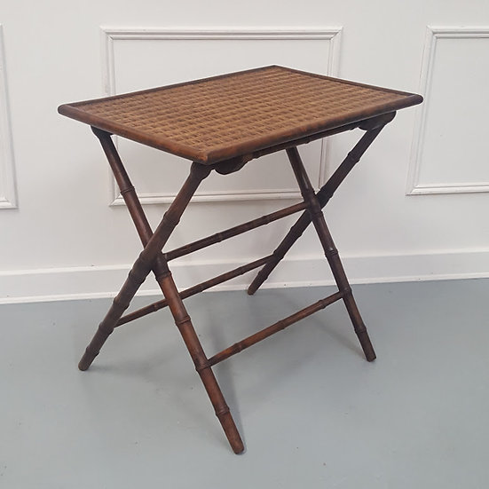 Folding Faux Bamboo Table C1900