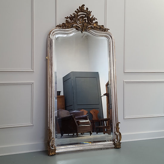 Beautiful French Silver Mirror C1880
