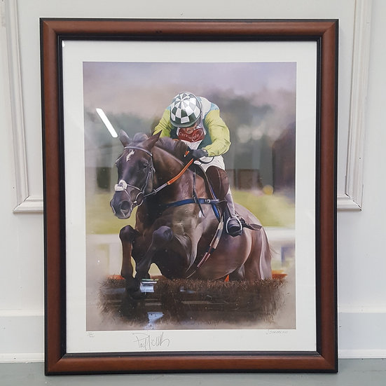 Pair of Signed Horse Racing Prints