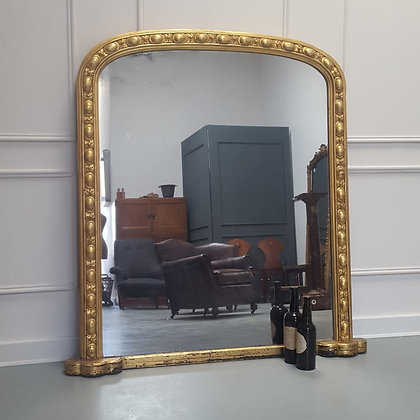 Antique English Overmantle Mirror C1870