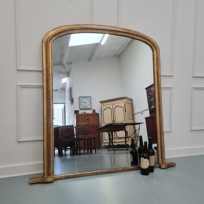 Large English Overmantle Mirror c1870