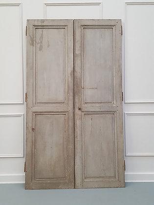 Antique Original Painted French Doors C1850