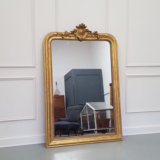 Beautiful Antique Gilded French Mirror C1870