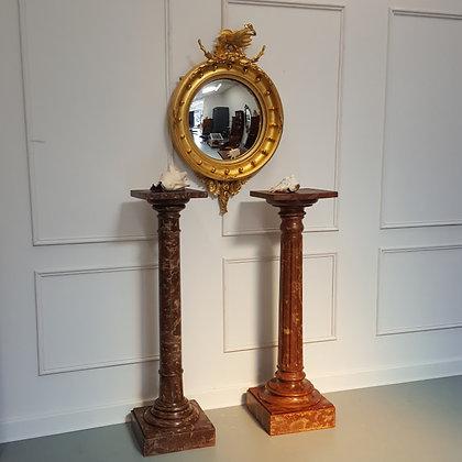 Antique Stunning Regency Convex Mirror C 1820
