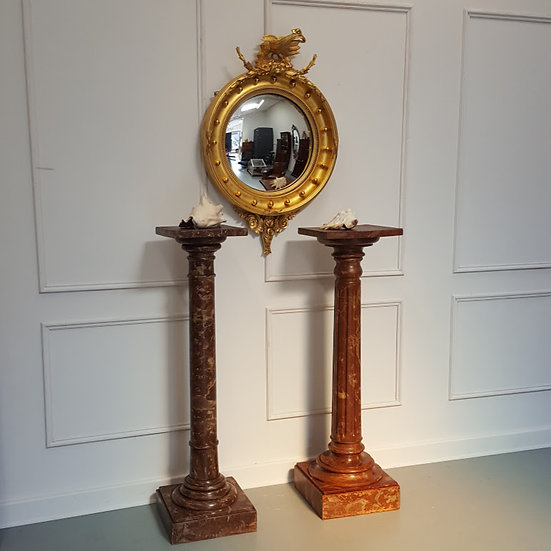 Antique Stunning Regency Convex Mirror C 1820